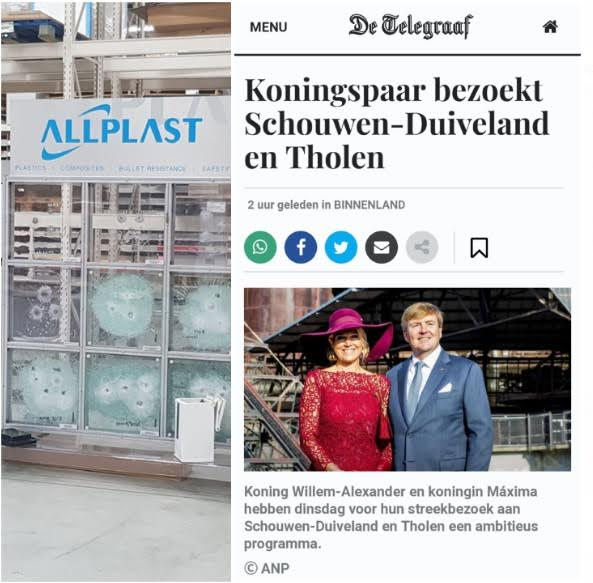 The visits of the king and Queen of the Netherlands to Allplast