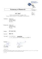 allplast EN1063 certificaten